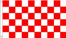 RED & WHITE CHECKERED - 8 X 5 FLAG